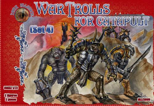 #All72033 Jeu de 4 Dark Alliance 1//72 War Trolls pour Catapulte