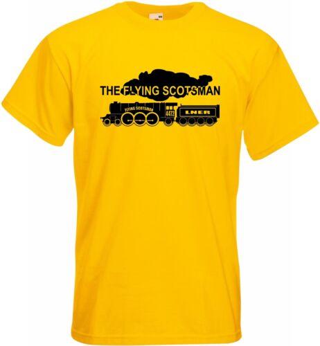 Mens T Shirt Steam Train Engine The Flying Scotsman Locomotive CL A3 4472 LNER Y