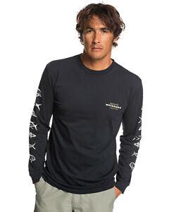 NEW-QUIKSILVER-Mens-Waterman-Aztec-Fish-Long-Sleeve-T-Shirt-Tee-Tops