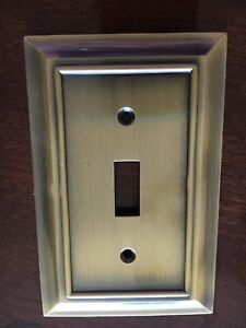 Single Switch Plate Antique Bronze
