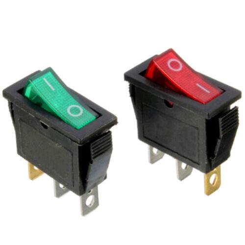 1PC On//Off Large Rectangle Rocker Switch LED Lighted Car Dash Boat 3Pin SPST 12V