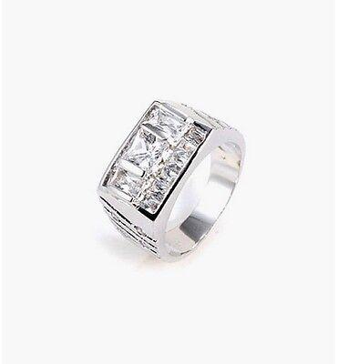Siegel Ring HX10123 rhodiniert Zirkonia Luxuriöser Herren Ring