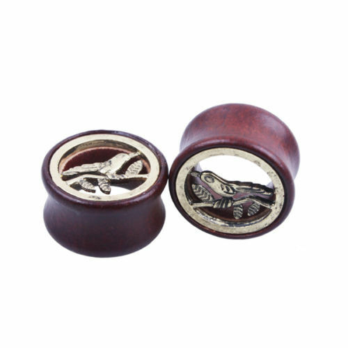 WOOD EAR PLUG TUNNEL TAPER STRETCHER SADDLE WOODEN FLESH BAMBOO SELECT DESIGN