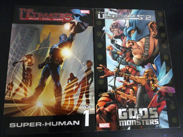 Ultimates v1 + Ultimates 2 v1 TPB Marvel Mark Millar Brian Hitch
