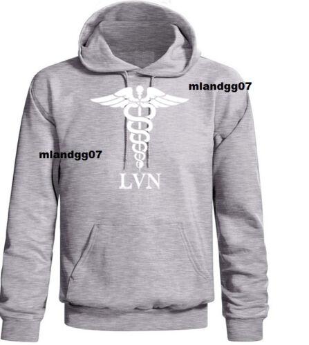 LVN Hoodies Licensed Vocational Nurse Sweatshirt Sizes S-3XL
