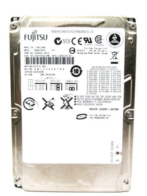 Fujitsu 40GB MHW2040AT CA06821-B014 IDE Laptop Hard Drive - WIPED & TESTED!