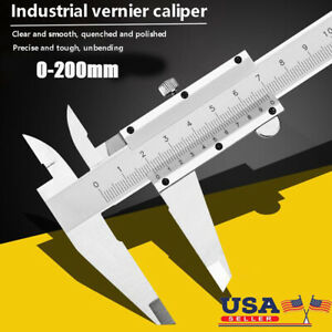 9 Inch 200mm x 0.02mm Stainless Steel Manual Caliper Metric