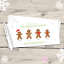 10 Gingerbread Characters PERSONALISED Family Christmas Cards Pack 5 15 or 20