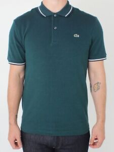 Tipped Lacoste Rrp Size Green Details Collar About £90 Ph9433 7 Slim Free Xxl Post Polo Marine BoerdCx