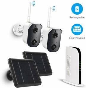1080P-Inalambrico-Wifi-Camara-Lote-De-Seguridad-Para-Exterior-De-Bateria-Recargable-Solar