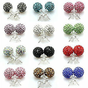 Earring-Premium-Czech-Crystal-Disco-Clay-Ball-Stud-Earrings-8mm-Sale