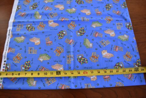 "23/"" Long /""The Three Bears/"" on Blue Quilt Cotton//Windham//Paul Meisel N3656"