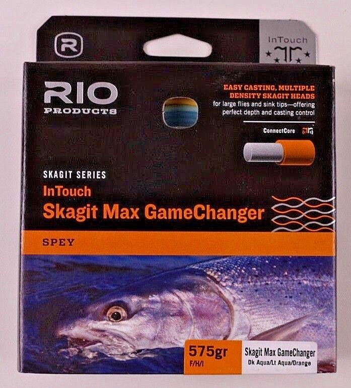 Rio Skagit Max GameChanger 575gr FHI Dk Aqua Lt Aqua arancia Free Ship 619119