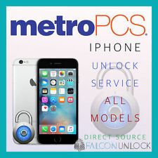 100% METRO PCS IPHONE 7, 7+, 6s+ 6s 6+ 6 5 CLEAN UNLOCK CODE SERVICE