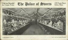 Salem MA Palace of Sweets Ice Cream Parlor Candy Store Postcard c1905