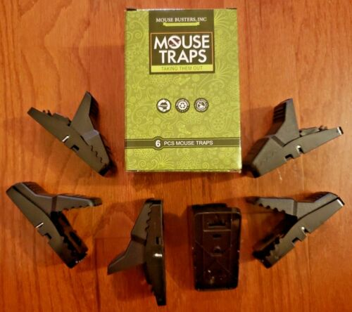 RAT TRAPS–GATOR EDITION–MOUSE BUSTERS! PREMIUM REUSABLE MOUSE TRAPS 6-PACK