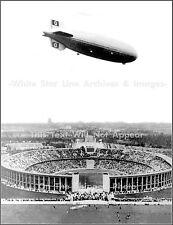 Photo: Rare View: LZ129 AKA Hindenburg Over Olympic Stadium, Germany, 1936