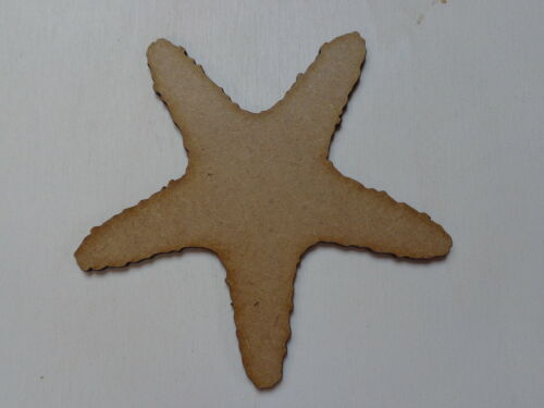 FS HUGE 150mm Starfish Pack of 10 Laser Cut 2mm MDF Craft Bathroom Seaside