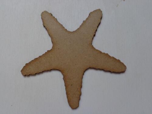 FS HUGE 150mm Starfish Pack of 10 Laser Cut 2mm MDF Craft Bathroom Seaside