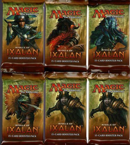 6  PACK LOT   MTG MAGIC THE GATHERING   RIVALS OF IXALAN BOOSTER PACKS
