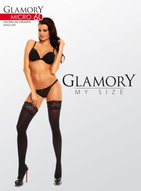 Glamory - Halterlose Strümpfe Micro 60 / Blickdichte Feinstrümpfe, 60den