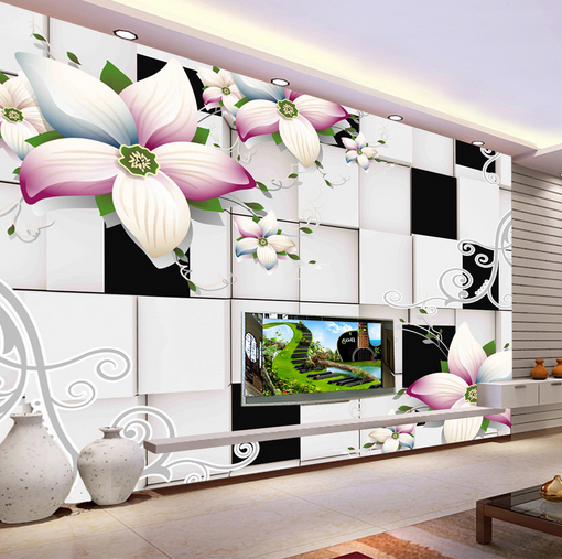 3D Grid Petals Petals Petals 566 Wallpaper Murals Wall Print Wallpaper Mural AJ WALL AU Kyra 600ac7