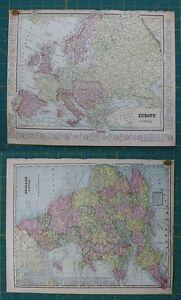 Europe england wales vintage original 1899 crams world atlas map image is loading europe england wales vintage original 1899 cram 039 gumiabroncs Choice Image