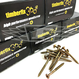 Paquete de 1000-5.0 x 60 mm Tornillo de madera individual profesional de Timco Pozi Countersunk 10 x 2 1//2