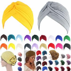 Headband-Full-Head-Cover-Turban-Head-Wrap-Loss-Chemo-Yoga-Hat-Bandana-Scarf-Pure