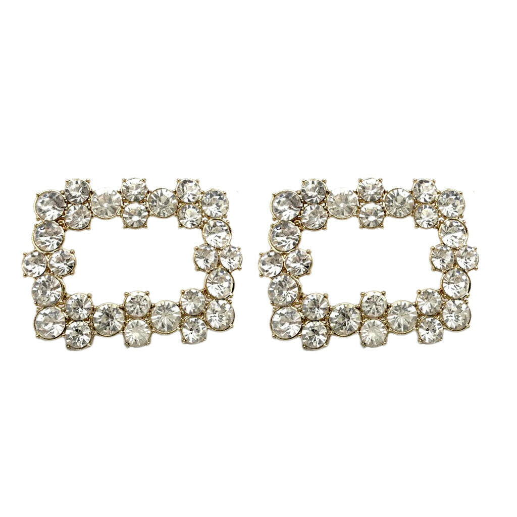 Shoes Buckle Square Shoe Charms Bridal Wedding Decorative Crystal Shoe Clips