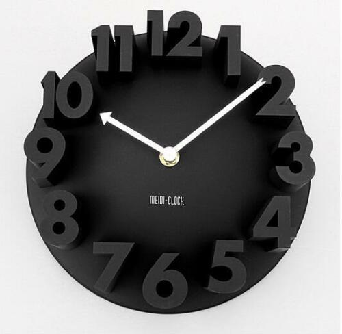 Wall Clock 3d Home Diy Decor Modern Large Arts Sticker Surface Office Numbers