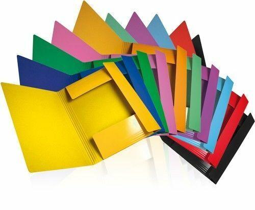 CONF. 50 CARTELLE con ELASTICO A4 coloreI BRILLANTI ASSORTITI