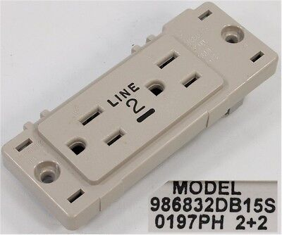 NEW STEELCASE LINE 2 CUBICLE OUTLET//RECEPTACLE 986832DA15S *REV A* +FREE SHIP!