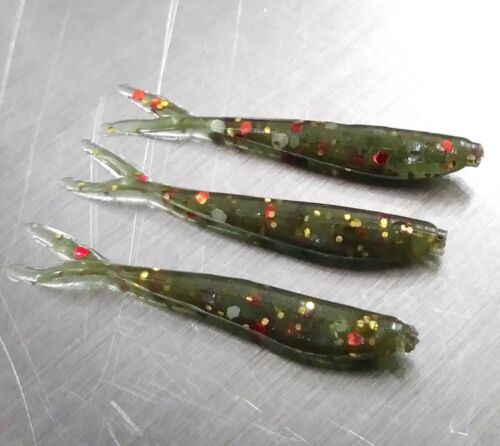 "NEW 50 GARLIC Brook Trout SLABTASTIC MINNOW 1/"" ICE MICRO Crappie Jig Fishing"