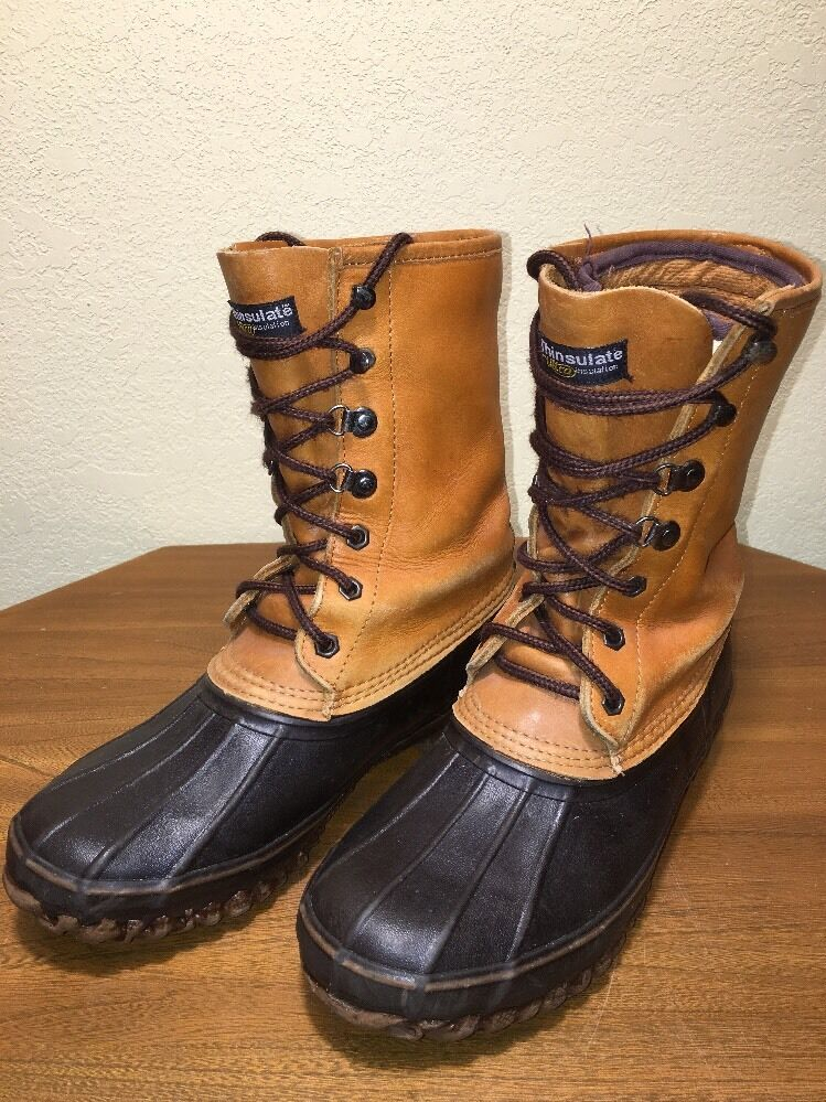 CABELA'S STEEL SHANK THINSULATE DUCK BOOTS HUNTING HIKING CAMP MENS SIZE 8