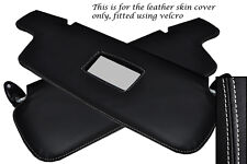 WHITE STITCH FITS BMW 3 SERIES E21 75-84 2X SUN VISORS LEATHER COVERS ONLY