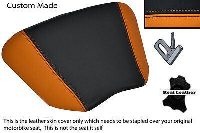 BLACK AND ORANGE CUSTOM 89-93 FITS HONDA VFR 400 NC30 LEATHER SEAT COVER