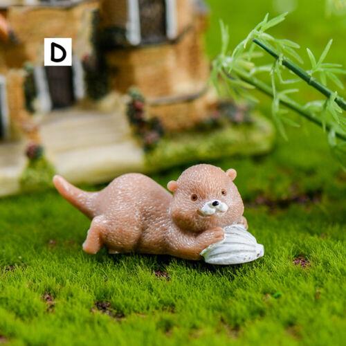 Ornament Animal Model Micro Landscape Otters Figurine Miniature Water Dog