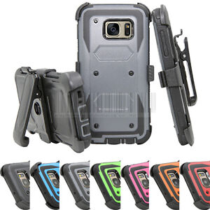Pour-Samsung-Galaxy-S7-Heavy-Duty-hybride-Rugged-Hard-Case-Cover-Belt-Clip-Holster