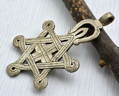 Messianic Star Of David With Cross Silver Pendant  Authentic Israel