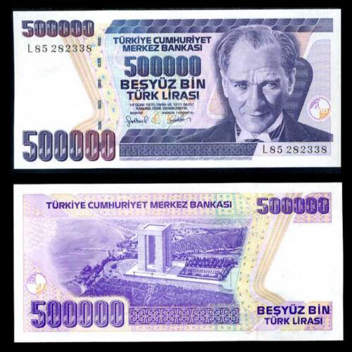 TURKEY 500000 500,000 LIRASI LIRA 1998 P 212 UNC