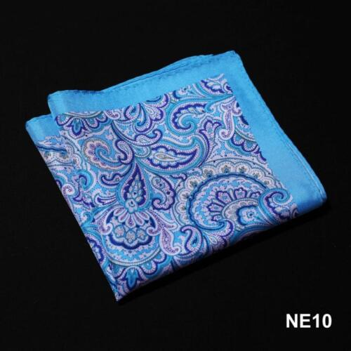 NE Handkerchief 100/% Natural Silk Satin Mens Hanky Wedding Party Pocket Square