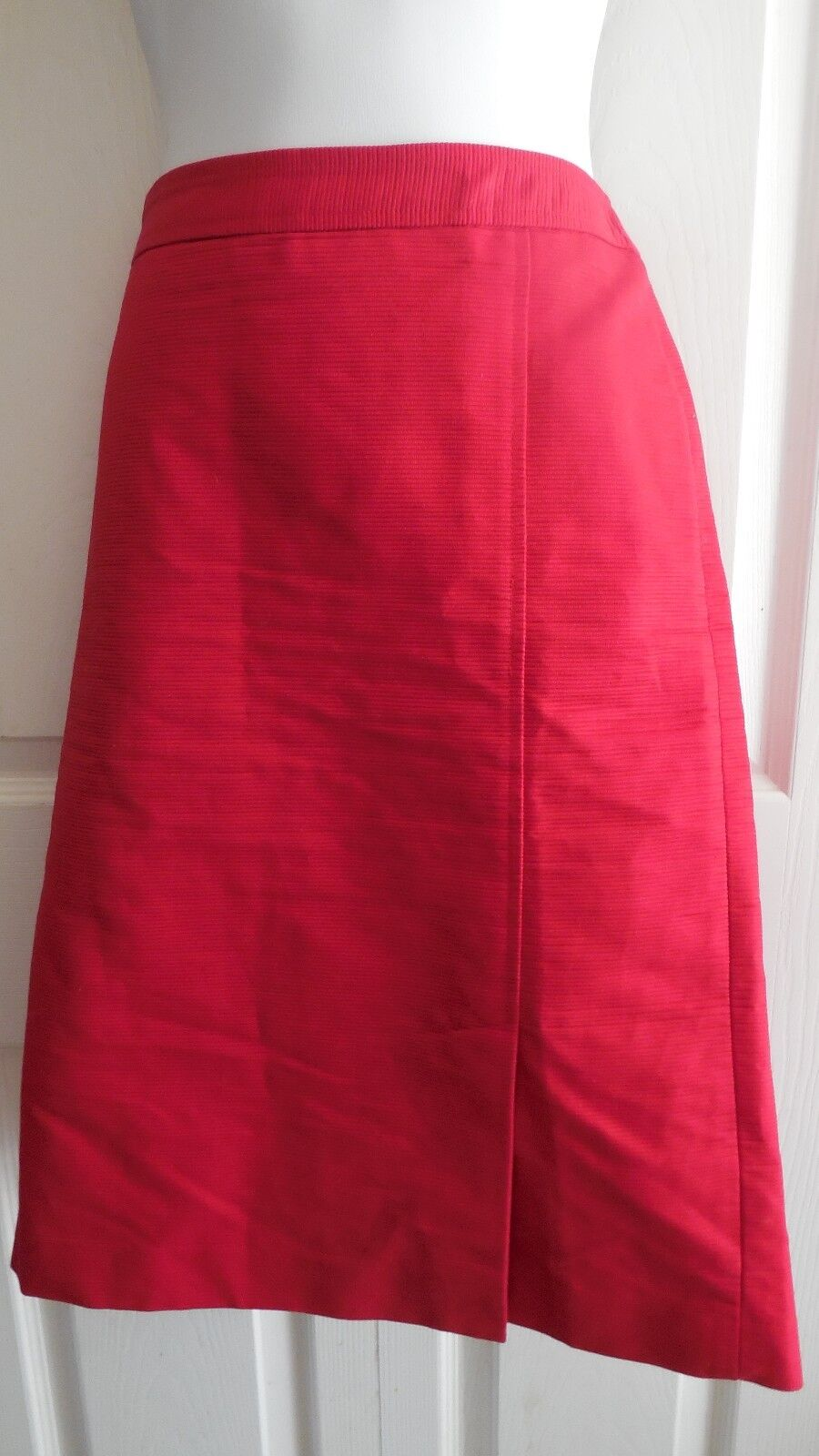 TALBOTS RED LINED 100% COTTON PENCIL WEAR TO WORK SKIRT 10