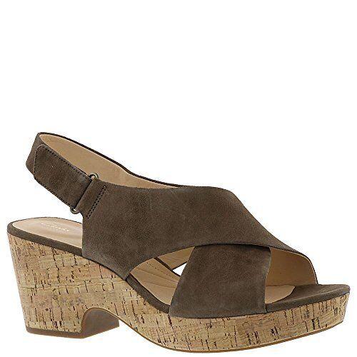 512c0f26e77 Clarks Womens Maritsa Lara Platform Sandal Olive Suede 10 M for sale online