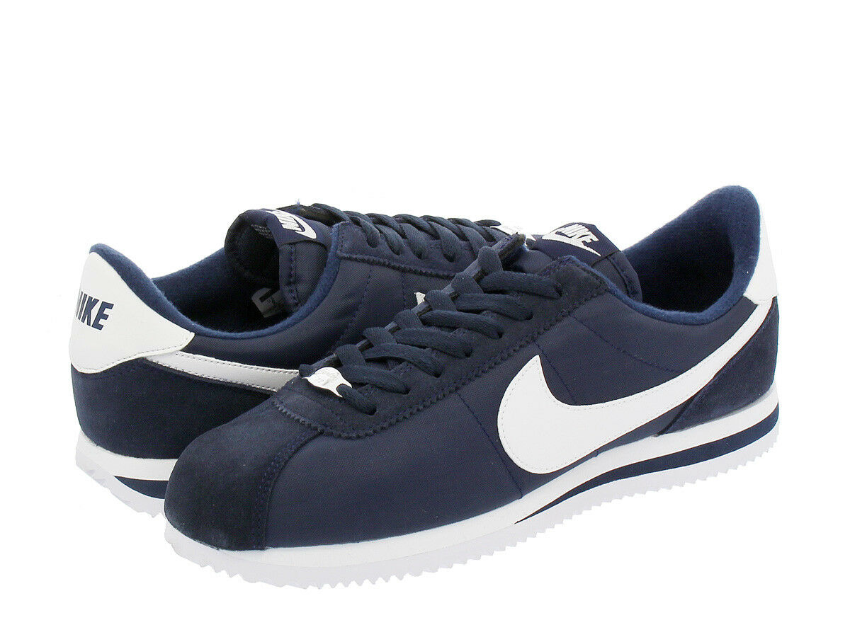 Nike Cortez Nylon Navy White Men's shoes Size 7.5 To 13 New N Box 100% Original