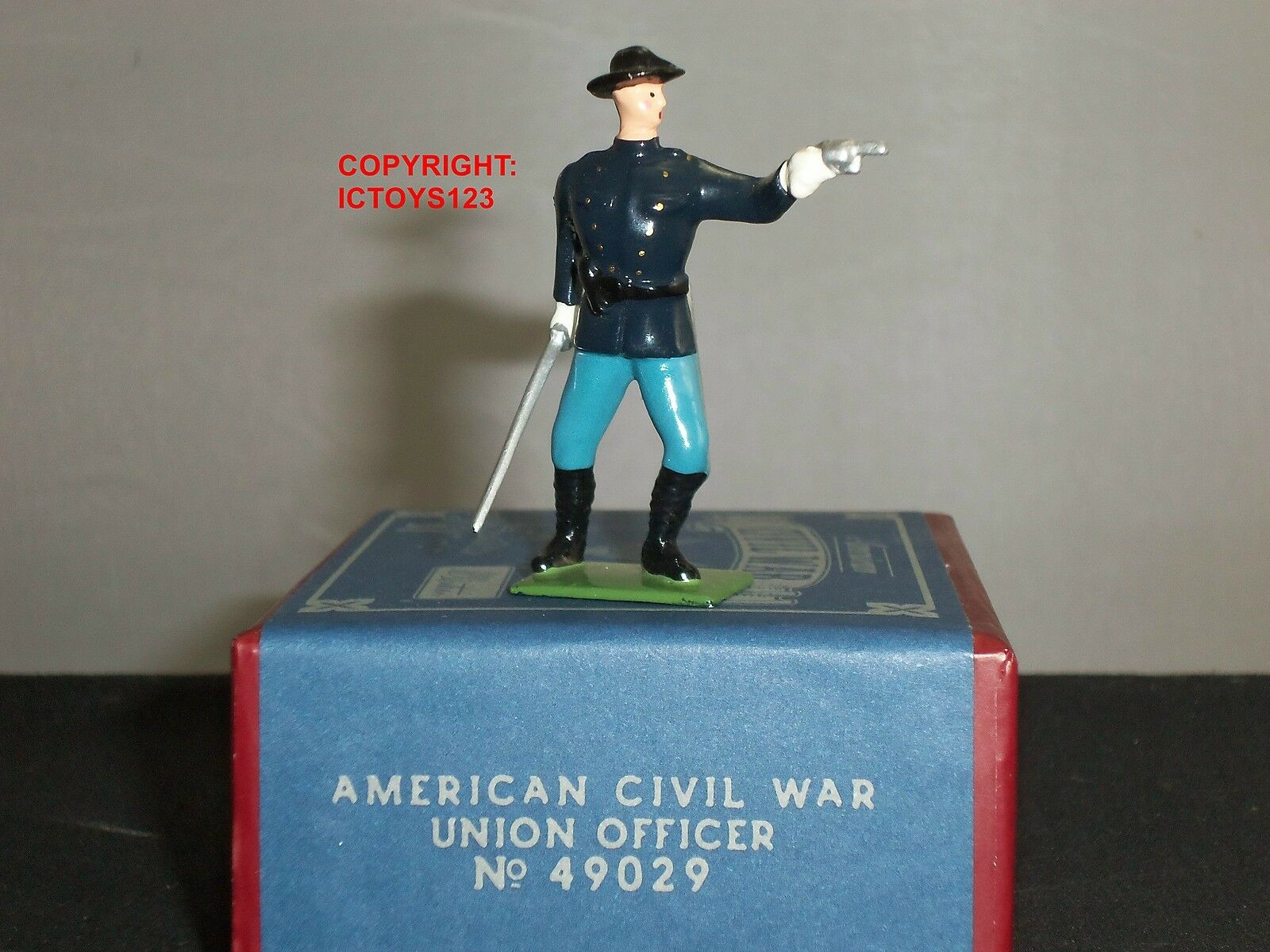 BRITAINS 49029 AMERICAN CIVIL WAR UNION OFFICER METAL TOY SOLDIER FIGURE