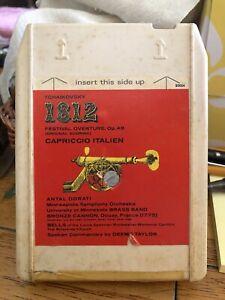 Tchaikovsky-1812-Overture-Capriccio-Italian-8-Track-Tape-Classical-VGC