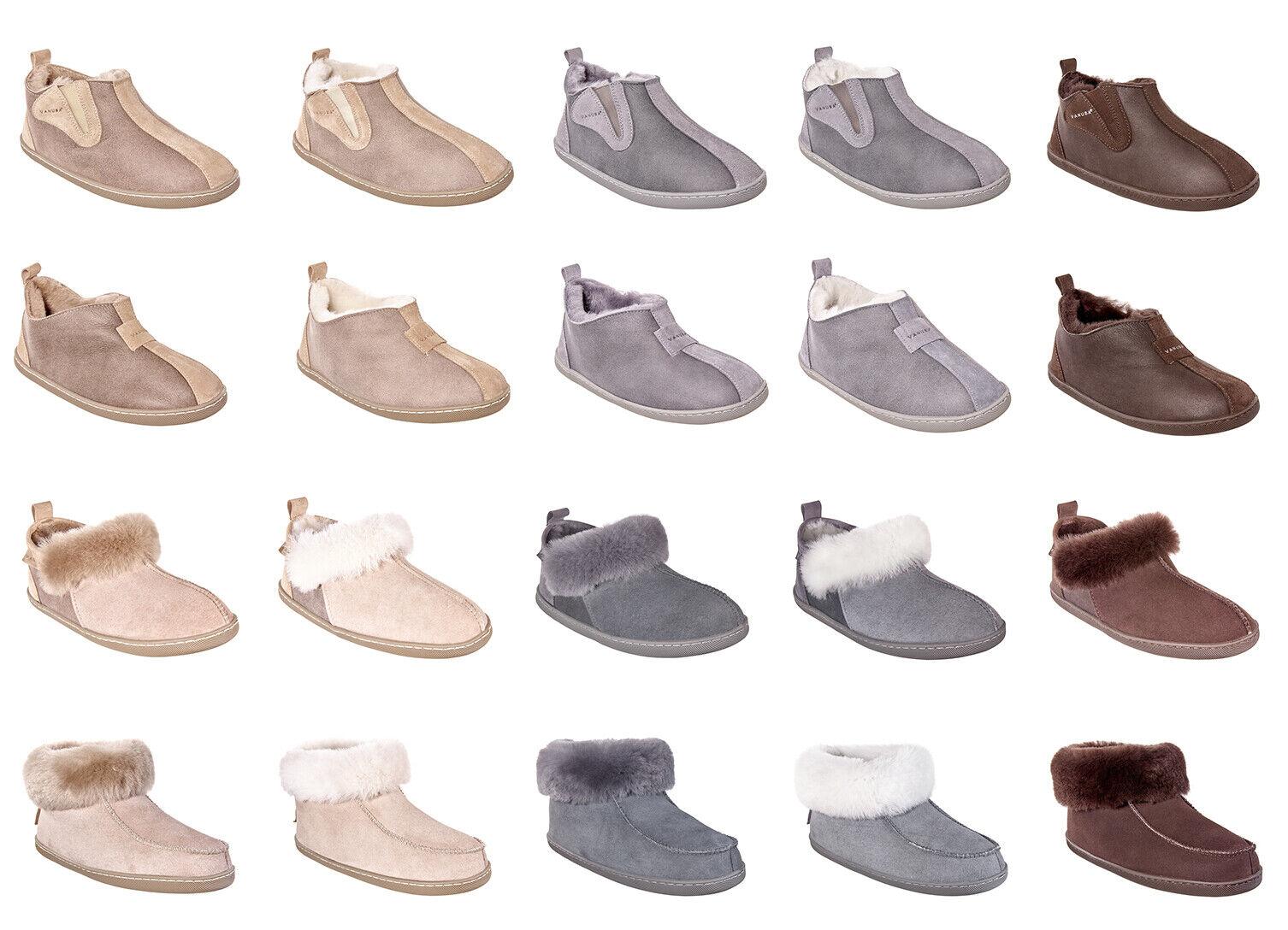 VÉRITABLE PEAU LAINEE femmes Velour Cuir Pantoufles chaussures Basses Laine Doubleure