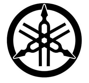 2-x-Yamaha-Logo-Sticker-Tuning-Fork-150mm-R1-R6-YZF-XJR-Fazer-Decal