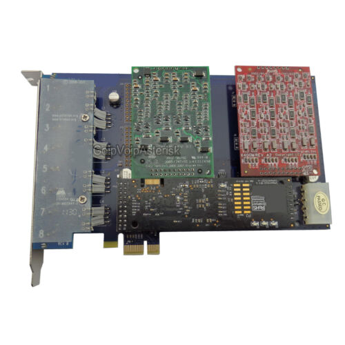 For asterisk voip pbx AEX800 4FXO /& 4FXS card with hardware echo cancellation